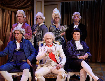Amadeus -Front Sitting (l_R) Andrew Barnicle, Louis Lotorto, Tony Amendola Back Standing (L-R) Andrew Oswald, Christopher M. Williams, Alice Sherman _ Nick Kennedy – photo by Aaron Rumley