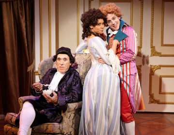 Amadeus – Sitting_ Tony Amendola _ Kathryn Tkel _ Rafael Goldstein – photo by Aaron Rumley